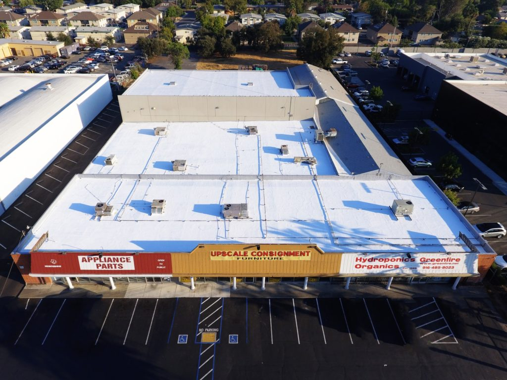 shopping center flat roof repair and reroofs